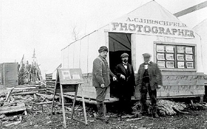 A. Hirschfeld's Photography Shop, Atlin, British Columbia, British Columbia Archives, call number: F-00178. [Archives codes: HP062020; 193501-001. Accession number: 193501-001]; http://search.bcarchives.gov.bc.ca/c-hirschfeld-photography-atlin.