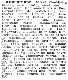 Who's Who in Western Canada, 1911, page 208, http://www.ourroots.ca/e/page.aspx?id=643202.