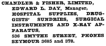 Henderson's Vancouver Directory, 1920, page 479