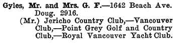Greater Vancouver Social and Club Register, 1927, page 31