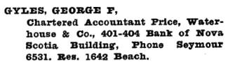 Henderson's Greater Vancouver Directory, 1922, page 724