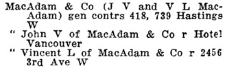 Henderson's Greater Vancouver Directory, 1912, Part 2, page 992