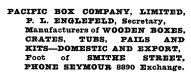 Henderson's Greater Vancouver Directory, 1923, page 1058