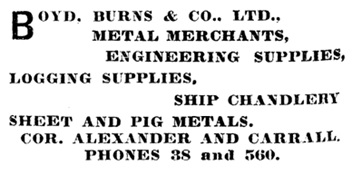 Henderson's City of Vancouver Directory, 1905, page 184
