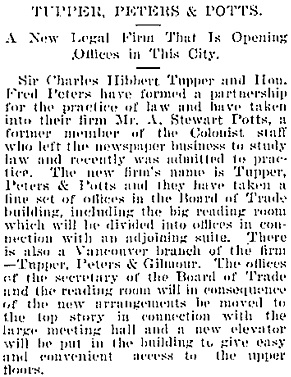 Victoria Daily Colonist, July 21, 1898, page 5, column 4; http://archive.org/stream/dailycolonist18980721uvic/18980721#page/n4/mode/1up/search/tupper