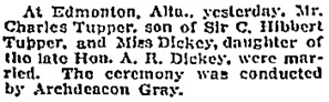 Social Events, Toronto Globe, April 13, 1910, page 5.