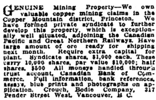 Victoria Daily Colonist, August 9, 1918, page 15, column 1; http://archive.org/stream/dailycolonist60y210uvic#page/n14/mode/1up