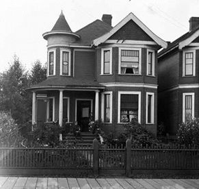Downing residence [1954 Georgia Street], 1903, Vancouver Public Library, VPL Accession Number: 2517; http://www3.vpl.ca/spePhotos/LeonardFrankCollection/02DisplayJPGs/1103/2517.jpg.