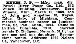 Who's Who in Western Canada, 1911, page 228, http://www.ourroots.ca/e/page.aspx?id=643222