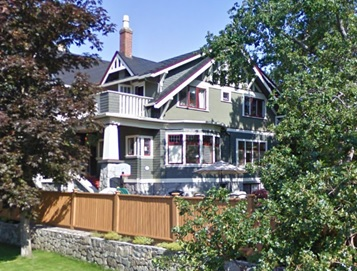 1312 Victoria Avenue, Oak Bay, British Columbia: Google Streets: Searched February 11, 2016; image dated June 2009.