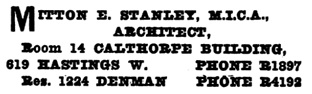 Henderson's City of Vancouver and North Vancouver Directory, 1909, page 910