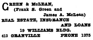 Henderson's Greater Vancouver Directory, 1911, Part 1, page 717