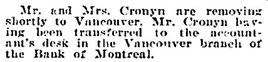 Social and Personal, Victoria Daily Colonist, December 11, 1904, page 6, column 4; http://archive.org/stream/dailycolonist19041211uvic/19041211#page/n5/mode/1up.
