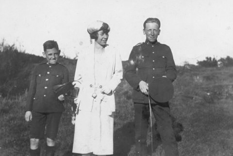 Murphy Family, 1923; St. Michael's University School, https://www.smus.ca/archives/photo/11019: L-R: John D.K. Murphy; Kathleen K. Murphy; Edward Owen Murphy.