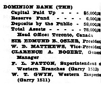 Henderson's Winnipeg Directory, 1913, page 922; http://peel.library.ualberta.ca/bibliography/921.3.14/830.html.