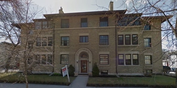 Wardlaw Apartments, 544 Wardlaw Avenue, Winnipeg, Manitoba; Google Streets, searched February 2, 2016; image dated May 2014.