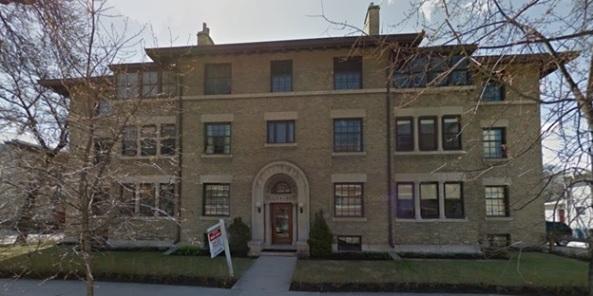 Wardlaw Apartments, 544 Wardlaw Avenue, Winnipeg, Manitoba; Google Streets, searched February 2, 2016; image dated May 2014.
