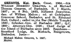 Dod's Peerage, Baronetage and Knightage of Great Britain and Ireland, London : Simkin, Marshall, Hamilton, Kent, 1915; Knights of the British Empire, page 727; https://archive.org/stream/dodspeeragebaron1915lond#page/727/mode/1up.