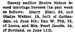 Local Happenings, Goldendale Sentinel, Goldendale, Washington, June 14, 1928, page 6