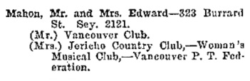 Greater Vancouver Social and Club Register, 1927, page 46