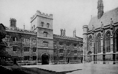 Exeter College, 1903. Source: Alden's Oxford Guide, Internet Archive and St. Michael's College Toronto; http://www.victorianweb.org/art/architecture/oxford/exeter/3.html.