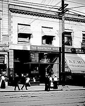 Northern Bank, 450 West Hastings Street, 1907, [later Northern Crown Bank]; Vancouver Public Library; VPL Accession Number: 5194; http://www3.vpl.ca/spePhotos/LeonardFrankCollection/02DisplayJPGs/60/5194.jpg [cropped image].