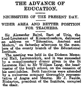 """The Advance of Education,"" The Courier and Argus (Dundee, Scotland), Issue 16386, December 25, 1905, page 7."