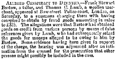 The Bristol Mercury and Daily Post (Bristol, England), Tuesday, February 14, 1882; Issue 10531, page 1.