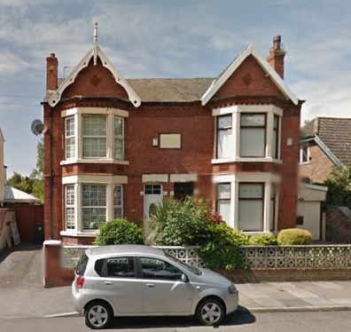 29 Sefton Road (left side of house), Litherland; Google Streets; searched April 1, 2016; image dated June 2014.