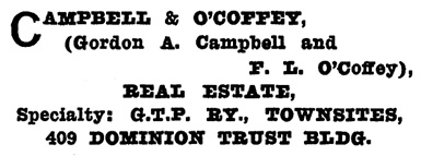 Henderson's Greater Vancouver Directory, 1911, Part 1, page 539