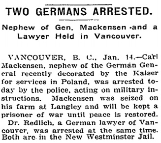 New York Times, January 15, 1915, http://query.nytimes.com/mem/archive-free/pdf?res=9A01E1D6153FE233A25756C1A9679C946496D6CF.