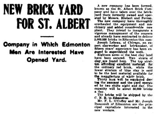 The Edmonton Bulletin, June 6, 1907, page 5; http://peel.library.ualberta.ca/newspapers/EDB/1907/06/06/5/.
