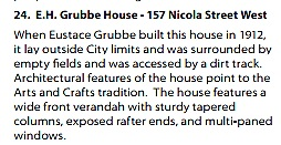 Kamloops Heritage Walking Tour, E.H. Grubbe House, number 24; http://www.kamloops.ca/pdfs/brochures/HeritageWalkingTour.pdf