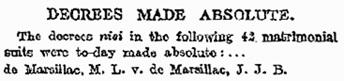 Probate, Divorce and Admiralty Division. (Before the Right Hon. Sir Samuel Evans, President.); The Times (London, England), Issue 40276, July 29, 1913; page 3. [selected portion of article]