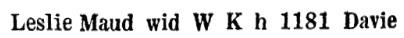 Wrigley's British Columbia Directory, 1926, page 1025