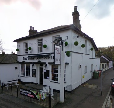 Three Colts Ale House, 54 Princes Road, Buckhurst Hill, England; Google Streets, searched April 3, 2016; image dated November 2008.
