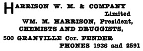 Henderson's City of Vancouver Directory, 1908, page 622