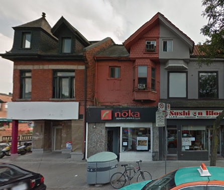 513 Bloor Street West, Toronto, Ontario, Google Streets, searched May 1, 2016; image dated September 2015. (Noka restaurant is at number 513)