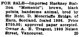 Chilliwack Progress, July 3, 1912, page 5; http://theprogress.newspapers.com/image/43154391/?terms=tregent