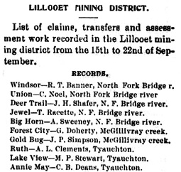 The Prospector (Lillooet), September 23, 1898, page 1; https://open.library.ubc.ca/collections/bcnewspapers/proslill/items/1.0212103#p0z-3r0f: