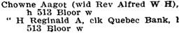 Toronto City Directory, 1901, page 360, https://archive.org/stream/torontodirec190100midiuoft#page/n351/mode/1up