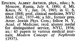 Albert Arthur Epstein, The American Jewish Year Book, Vol. 67 (1966), page 534