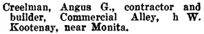 Henderson's BC Gazetteer and Directory, 1904, page 483 (Rossland)