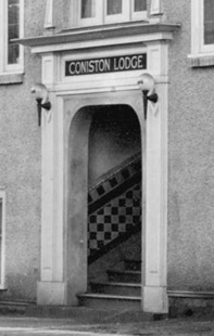 Doorway of Coniston Lodge, detail from Bute Street (corner Barclay), 1925; City of Vancouver Archives, CVA 357-9; http://searcharchives.vancouver.ca/description-in-progress-5616.