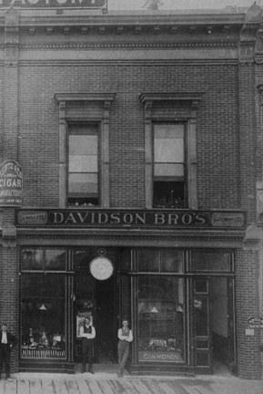Davidson Brothers, 100 block Cordova Street, about 1890, detail from Vancouver City Archives street photograph; Str P71; http://searcharchives.vancouver.ca/vancouver-b-c-6.