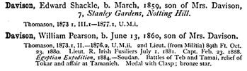 Haileybury Register, Haileybury and Imperial Service College, 1891; page 111; https://books.google.ca/books?id=sYMjAQAAIAAJ&pg=PA111&lpg=PA111&dq=edward+shackle+davison&source=bl&ots=WMAvqYsjeH&sig=howsg8upakIikr4z4Q_c-cKCkhs&hl=en&sa=X&ved=0ahUKEwiDk8S7geDMAhVU1WMKHSaiCWEQ6AEIHTAA#v=onepage&q&f=false.