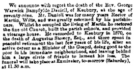 News, The Exeter and Plymouth Gazette (Exeter, England), June 5, 1874; page 5.