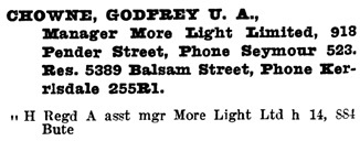 Henderson's Greater Vancouver Directory, 1922, page 566