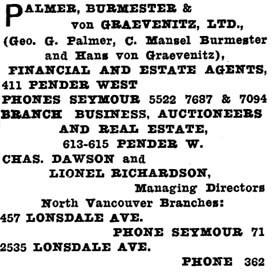Henderson's Greater Vancouver Directory, 1912, Part 2, page 1092