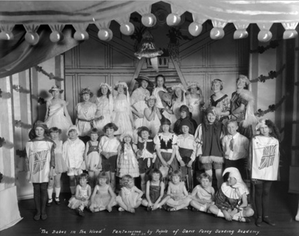 """The Babes in the Wood"" Pantomime by Pupils of Davis Fancy Dancing Academy [at 1844 Georgia Street]; January 20 1922; City of Vancouver Archives - CVA 99-3518 -; http://searcharchives.vancouver.ca/babes-in-wood-pantomime-by-pupils-of-davis-fancy-dancing-academy-at-1844-georgia-street"